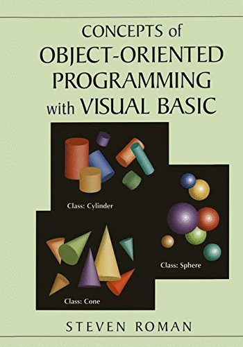 CONCEPTS OF OBJECT-ORIENTED PROGRAMMING WITH VISUAL BASIC By Steven Roman VG  - $35.49